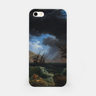 Thumbnail image of A Shipwreck in Stormy Seas (Tempête) by Claude Joseph Vernet iPhone Case, Live Heroes