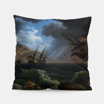 Thumbnail image of A Shipwreck in Stormy Seas (Tempête) by Claude Joseph Vernet Pillow, Live Heroes