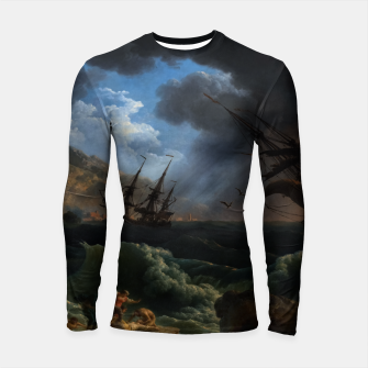 Thumbnail image of A Shipwreck in Stormy Seas (Tempête) by Claude Joseph Vernet Longsleeve rashguard , Live Heroes