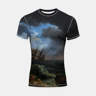 Thumbnail image of A Shipwreck in Stormy Seas (Tempête) by Claude Joseph Vernet Shortsleeve rashguard, Live Heroes