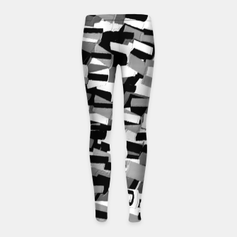 Thumbnail image of Grey Values  Leggings para niña, Live Heroes