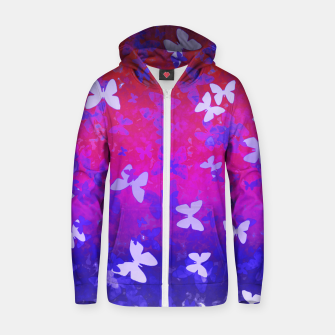 Thumbnail image of Butterfly night zipped hoody, Live Heroes