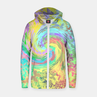 Thumbnail image of Butterfly breeze zipped hoody, Live Heroes