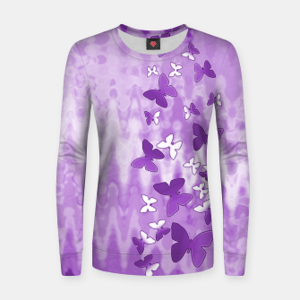 Thumbnail image of Butterfly dew women's sweater, Live Heroes