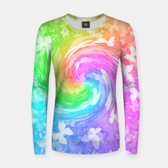 Thumbnail image of Butterfly warp women's sweater, Live Heroes