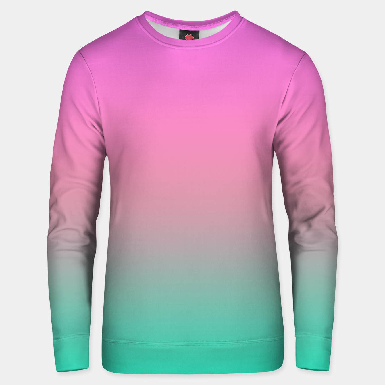 Image of Smooth gradient summer colors fashion simple color pink blue background Unisex sweater - Live Heroes