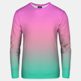 Thumbnail image of Smooth gradient summer colors fashion simple color pink blue background Unisex sweater, Live Heroes