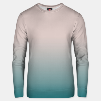 Thumbnail image of Smooth gradient neutral colors fashion simple color beige blue background Unisex sweater, Live Heroes