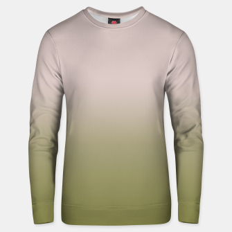 Thumbnail image of Smooth gradient neutral colors fashion simple color beige green background Unisex sweater, Live Heroes