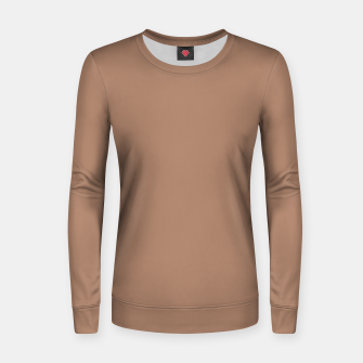 Thumbnail image of Pantone Tawny Birch pure clear beige cacao brown tone colour Autumn/Winter 2020/2021 London Women sweater, Live Heroes