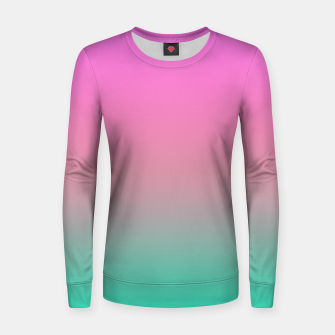Thumbnail image of Smooth gradient summer colors fashion simple color pink blue background Women sweater, Live Heroes