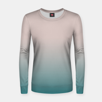 Thumbnail image of Smooth gradient neutral colors fashion simple color beige blue background Women sweater, Live Heroes