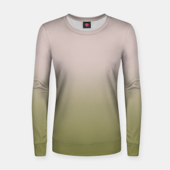 Thumbnail image of Smooth gradient neutral colors fashion simple color beige green background Women sweater, Live Heroes