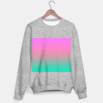 Thumbnail image of Smooth gradient summer colors fashion simple color pink blue background Sweater regular, Live Heroes