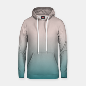 Smooth gradient neutral colors fashion simple color beige blue background Hoodie thumbnail image