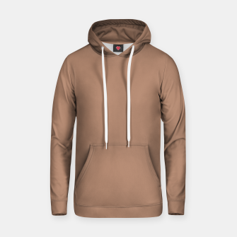 Thumbnail image of Pantone Tawny Birch pure clear beige cacao brown tone colour Autumn/Winter 2020/2021 London Hoodie, Live Heroes