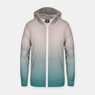 Smooth gradient neutral colors fashion simple color beige blue background Zip up hoodie thumbnail image