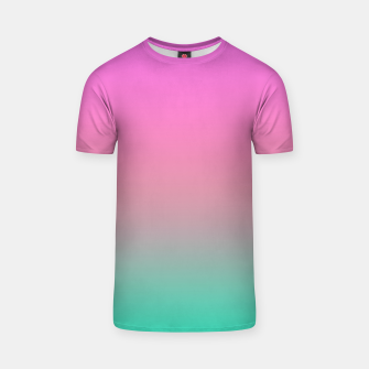 Smooth gradient summer colors fashion simple color pink blue background T-shirt thumbnail image