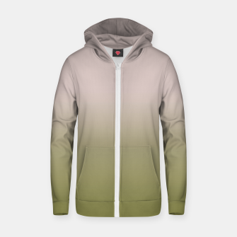 Thumbnail image of Smooth gradient neutral colors fashion simple color beige green background Zip up hoodie, Live Heroes