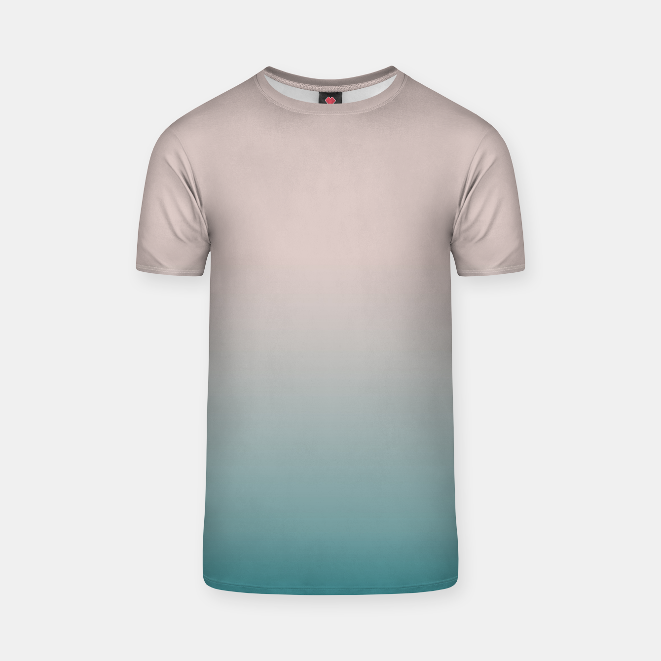 Image of Smooth gradient neutral colors fashion simple color beige blue background T-shirt - Live Heroes