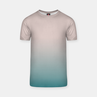 Thumbnail image of Smooth gradient neutral colors fashion simple color beige blue background T-shirt, Live Heroes