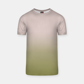 Thumbnail image of Smooth gradient neutral colors fashion simple color beige green background T-shirt, Live Heroes