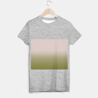 Miniaturka Smooth gradient neutral colors fashion simple color beige green background T-shirt regular, Live Heroes