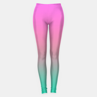 Miniature de image de Smooth gradient summer colors fashion simple color pink blue background Leggings, Live Heroes
