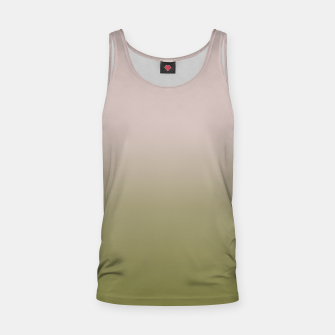 Miniaturka Smooth gradient neutral colors fashion simple color beige green background Tank Top, Live Heroes