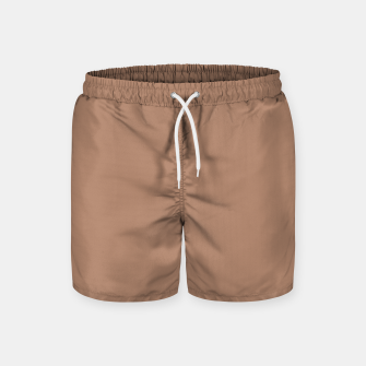 Thumbnail image of Pantone Tawny Birch pure clear beige cacao brown tone colour Autumn/Winter 2020/2021 London Swim Shorts, Live Heroes