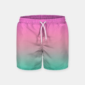 Miniaturka Smooth gradient summer colors fashion simple color pink blue background Swim Shorts, Live Heroes