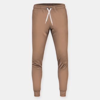 Thumbnail image of Pantone Tawny Birch pure clear beige cacao brown tone colour Autumn/Winter 2020/2021 London Sweatpants, Live Heroes