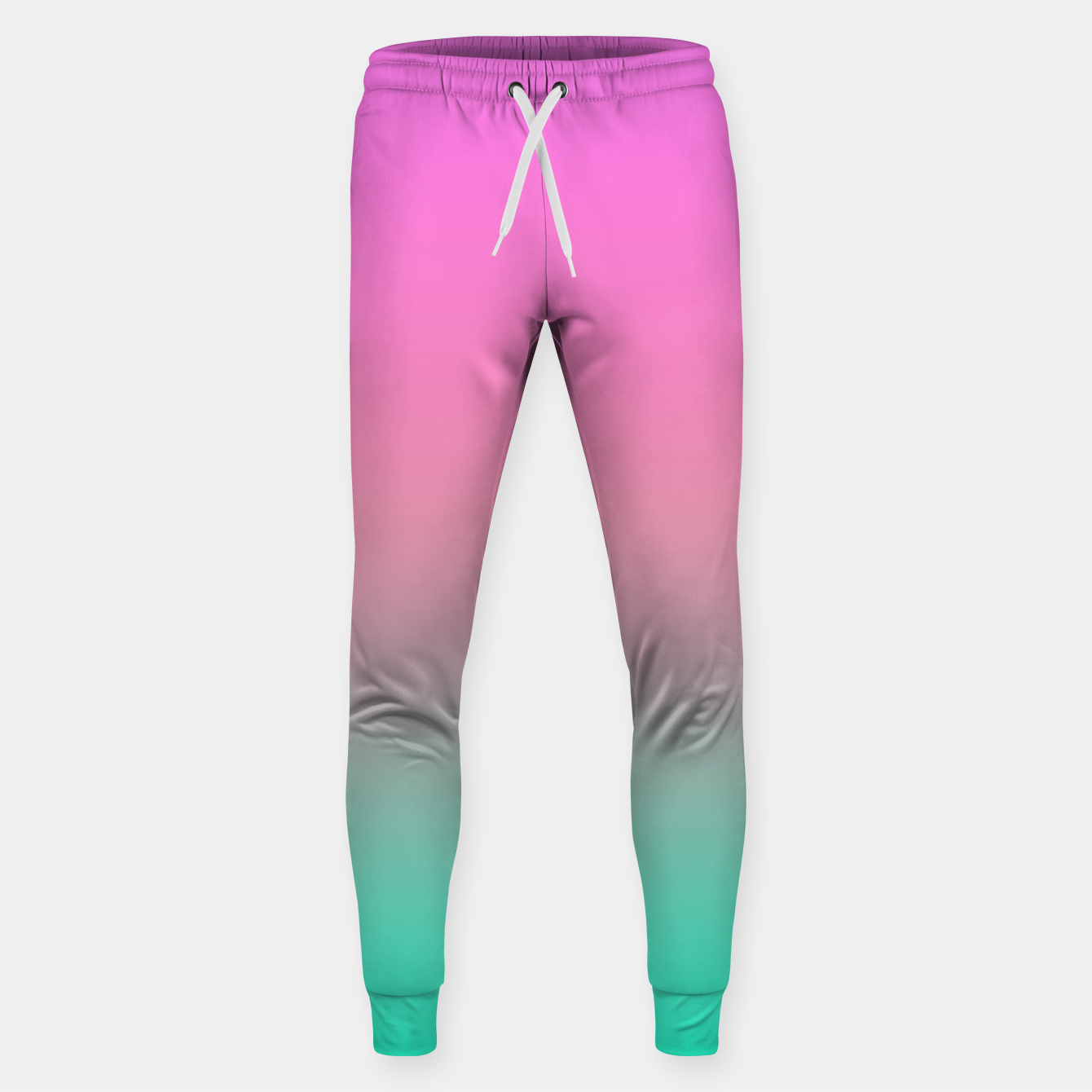 Image of Smooth gradient summer colors fashion simple color pink blue background Sweatpants - Live Heroes
