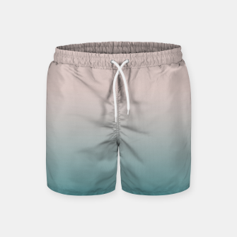 Miniature de image de Smooth gradient neutral colors fashion simple color beige blue background Swim Shorts, Live Heroes