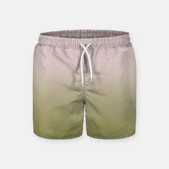 Miniature de image de Smooth gradient neutral colors fashion simple color beige green background Swim Shorts, Live Heroes