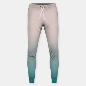 Miniature de image de Smooth gradient neutral colors fashion simple color beige blue background Sweatpants, Live Heroes