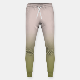 Miniature de image de Smooth gradient neutral colors fashion simple color beige green background Sweatpants, Live Heroes