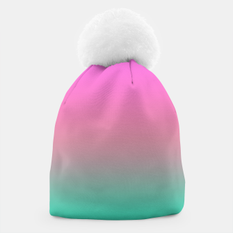 Miniaturka Smooth gradient summer colors fashion simple color pink blue background Beanie, Live Heroes