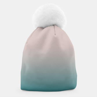 Miniaturka Smooth gradient neutral colors fashion simple color beige blue background Beanie, Live Heroes