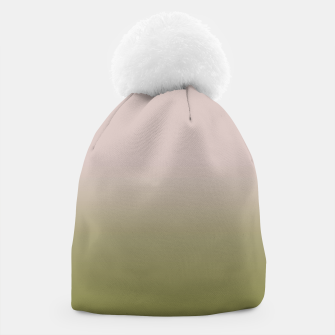 Miniature de image de Smooth gradient neutral colors fashion simple color beige green background Beanie, Live Heroes