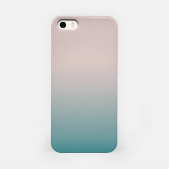 Miniature de image de Smooth gradient neutral colors fashion simple color beige blue background iPhone Case, Live Heroes