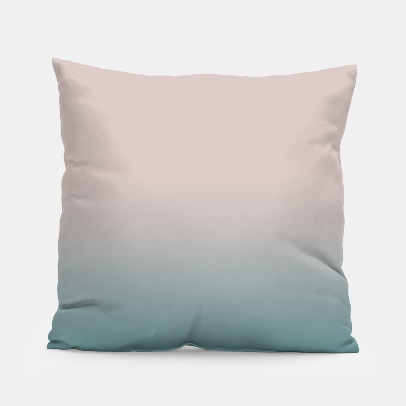 Image of Smooth gradient neutral colors fashion simple color beige blue background Pillow - Live Heroes