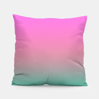 Miniaturka Smooth gradient summer colors fashion simple color pink blue background Pillow, Live Heroes