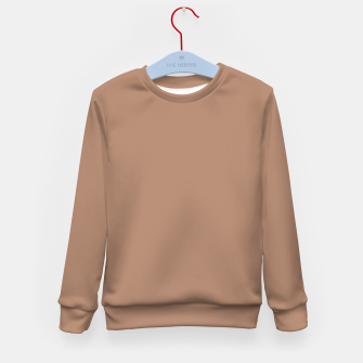 Thumbnail image of Pantone Tawny Birch pure clear beige cacao brown tone colour Autumn/Winter 2020/2021 London Kid's sweater, Live Heroes