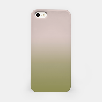 Miniature de image de Smooth gradient neutral colors fashion simple color beige green background iPhone Case, Live Heroes