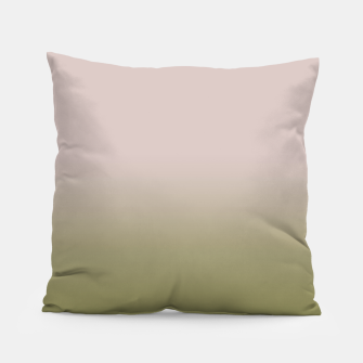 Miniaturka Smooth gradient neutral colors fashion simple color beige green background Pillow, Live Heroes