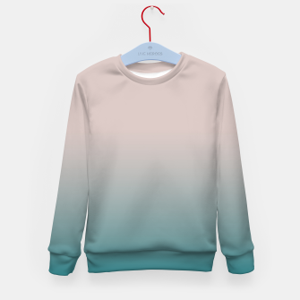 Miniature de image de Smooth gradient neutral colors fashion simple color beige blue background Kid's sweater, Live Heroes