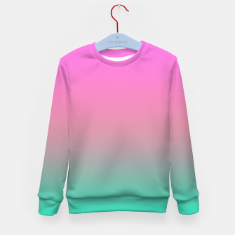 Miniature de image de Smooth gradient summer colors fashion simple color pink blue background Kid's sweater, Live Heroes