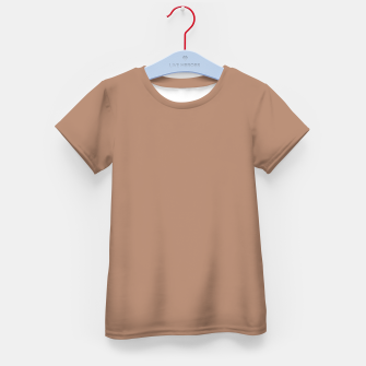 Thumbnail image of Pantone Tawny Birch pure clear beige cacao brown tone colour Autumn/Winter 2020/2021 London Kid's t-shirt, Live Heroes