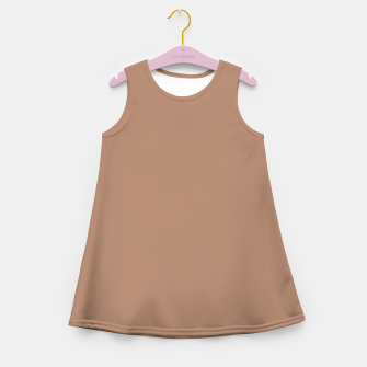 Thumbnail image of Pantone Tawny Birch pure clear beige cacao brown tone colour Autumn/Winter 2020/2021 London Girl's summer dress, Live Heroes